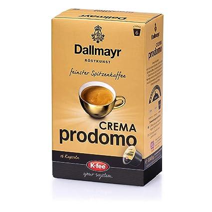 7b5878eeb8b744 Dallmayr CREMA prodomo Kaffeekapseln, kompatibel mit Tchibo Cafissimo(R)*  6er Pack (96 Kapseln), 125 g
