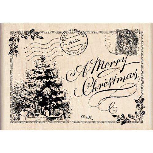 Inkadinkado Wood Stamp, Christmas Post -