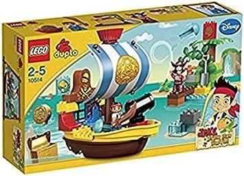 LEGO DUPLO PIRATENSCHIFF SCHIFF JAKE PIRAT FIGUR HOOK aus 10514 NIMMERLAND BUCKY