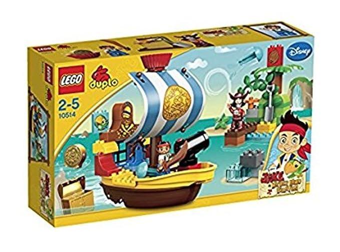 lego duplo 10514 Piratenschiff Bucky Jake und die Nimmerland Piraten Versteck 10 Baukästen & Konstruktion