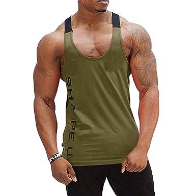 21e05b77caa29 Amazon.com  Tank Tops for Mens by Dainzuy