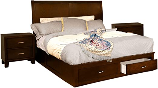Amazon Com Furniture Of America Varielle Modern 3 Piece Storage