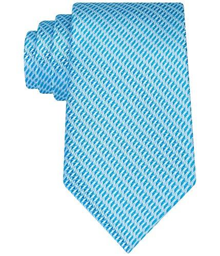 Geoffrey Beene Men's Micro Sun Neat Tie, Aqua, One Size