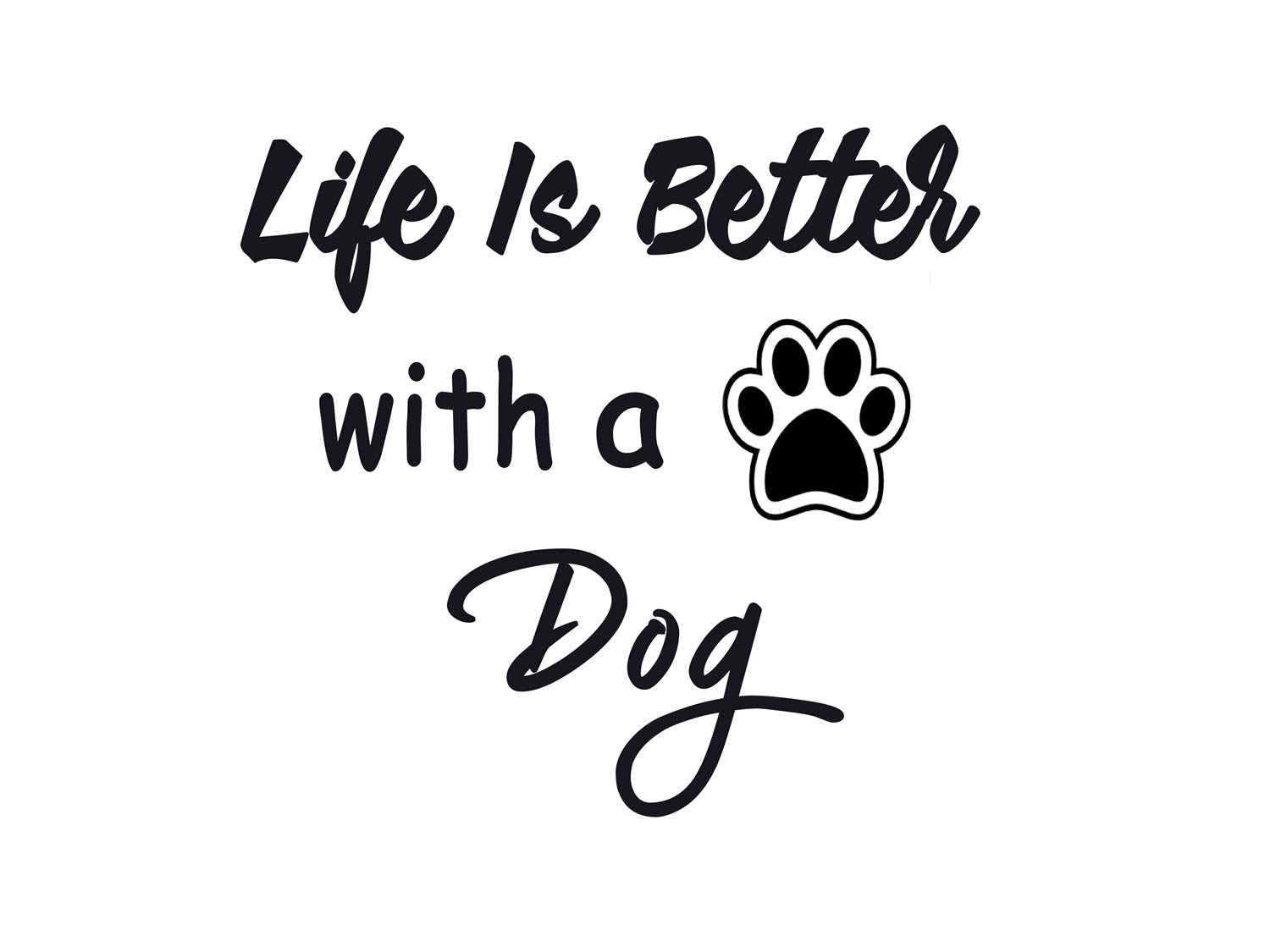 3688dc5fe1cf Quotes Wall Decal Life Is Better with a Dog Saying Stickers Wall Sticker  Lettering Vinyl Wall Art Sticker Decals Motivational Wall Quotes Decor for  Bedroom ...