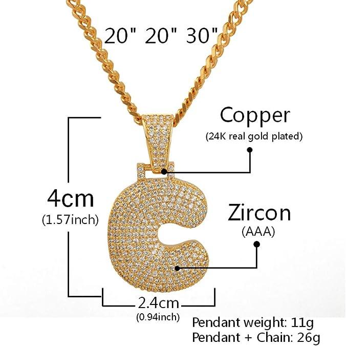 Personalized Unisex Hip Hop Cubic Zircon Initial Necklace Gold Silver Chain Junmei Custom Bubble Letter Pendant