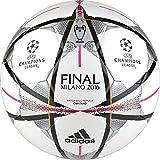 Compra adidas Performance Finale Milano Capitano Soccer Ball, White/Black/Silver Metallic, 4 en Usame