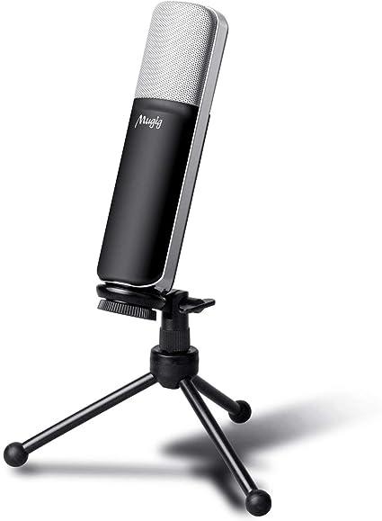 ELEGIANT Microphone PC Micro Professionnel /à Condensateur Podcasting Studio XLR vers Jack pour Radio Skype Youtube Jeux Videos Recherche de Voix Compatible avec Ordinateur PC Windows Mac