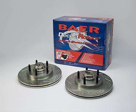 BAER 05371-020 Sport Rotors Slotted Drilled Zinc Plated Front Brake Rotor Set Pair Baeer Brakes