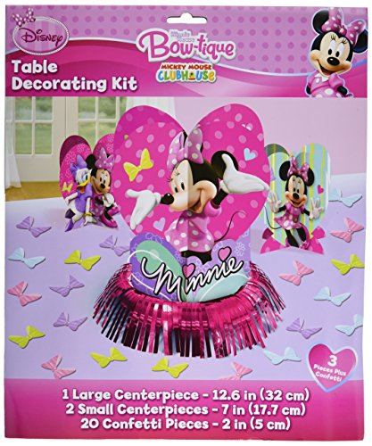 Disney Minnie Mouse Birthday Party Table Decorating Kit Assorted Decoration (23 Pack), Multi Color, . (Minnie Mouse Parties)