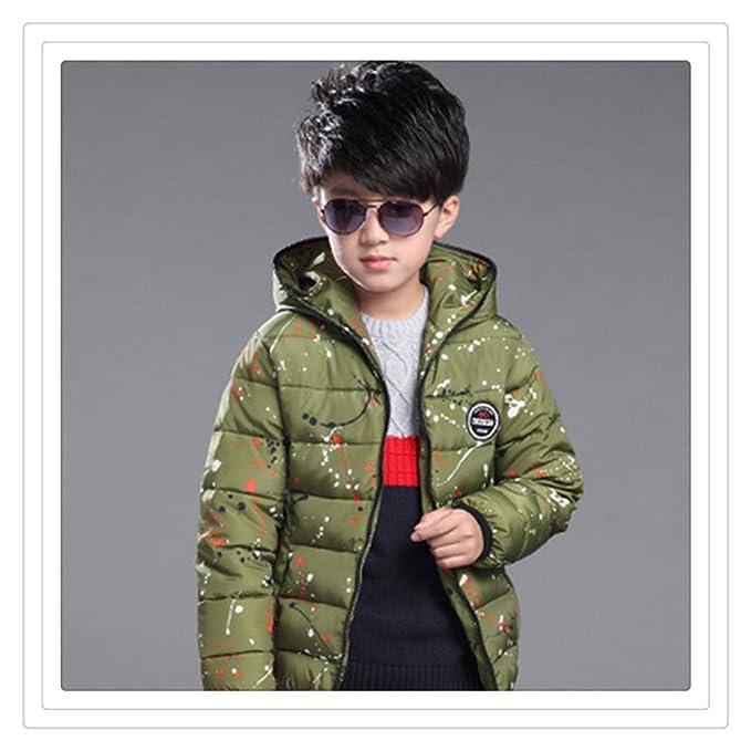 Niños abrigo de invierno los modelos de moda de Corea del niño grande de plumas chaqueta