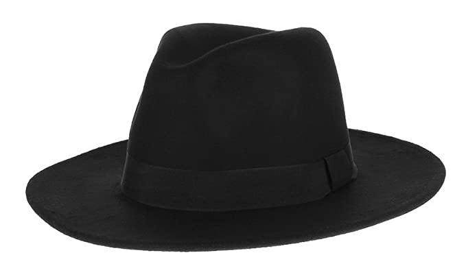 La Vogue Men Retro Hat Fedora Hat Flat Jazz Hats Gentleman Hat Cap Black c507a29706e