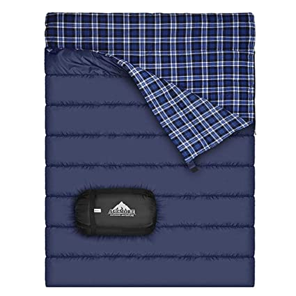 Amazon.com: Franela de Algodón saco de dormir doble para ...