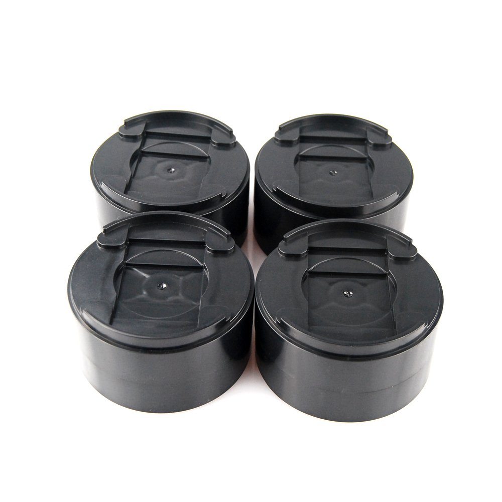 MIIX HOME 8 Pack Round Black Add 1-2 inch Durable & Stackable & Adjustable Bed Risers, Lifts for Bed Frame, Table Risers or Furniture Risers/Adjustable Heights frame lifts/1500 pounds