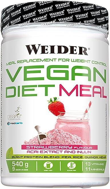 Weider Vegan Vegan Diet Meal - 540 gr Fresa: Amazon.es ...