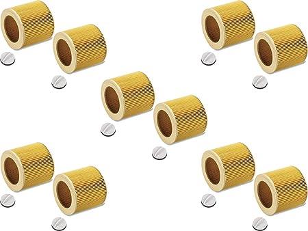 10 x original tinta filtro/filtro Set para Kärcher aspirador/aspiradora industrial de/Lavado Aspiradora/aspirador en húmedo – Aspirador/multiusos en seco: Amazon.es: Hogar