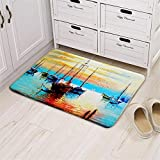 Dbtxwd 3D Landscape painting Printing Rugs Living room Bedroom Non-slip Water absorption Door mats Carpet , 1 , 5080cm