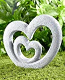 The Lakeside Collection Heart Garden Sculpture - Decorative Yard Art Accent for Outdoors