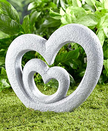 Cement Garden Sculpture - The Lakeside Collection Heart Garden Sculpture