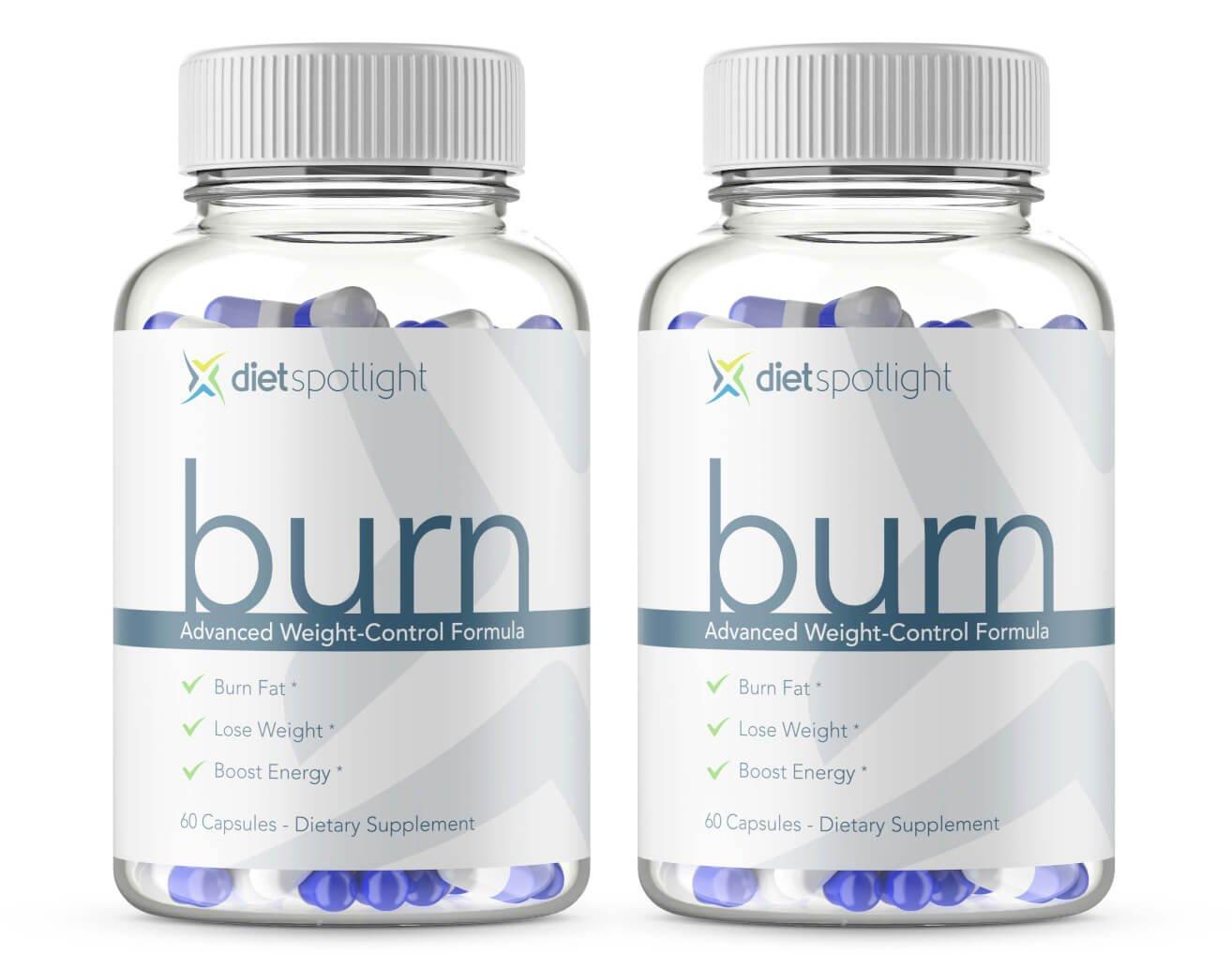 Dietspotlight Burn Weight Control Formula Plus - Increase Your Metabolism, Decrease Your Appetite, Safe & Effective Fat Burner (2-Bottle)