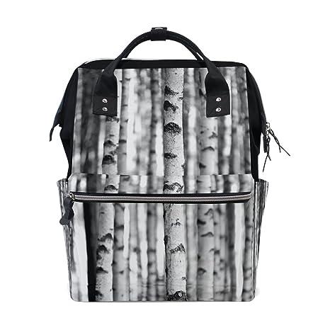 jstel bolsas de College portátil estudiante viajes abedul árbol de mochila escolar hombro bolsa