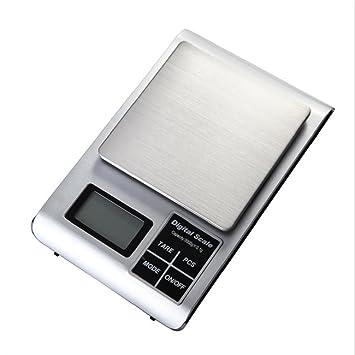 wenrit Báscula de Cocina Digital con Pantalla LCD Báscula de Alta Precisión de Acero Inoxidable (no Incluye Batería): Amazon.es: Hogar