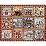 quilt puzzle - Bits and Pieces-Village Welcome Quilt puzzle Americana Quilt - 500 Piece Jigsaw Puzzle For Adults