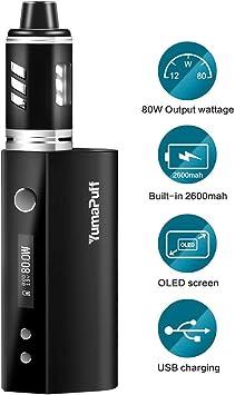 Cigarrillo electrónico kit de inicio de, Parrot Vape Pen 80W, Vaping Kit con batería recargable con