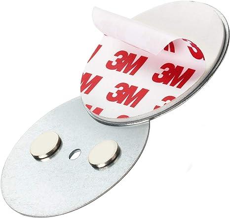 10x Rauchmelder Magnethalter 50mm Magnet-Befestigung Halterung Klebepads