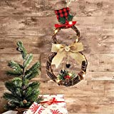 NszzJixo9 Home Decoration Wreath Pendant LED Wreath Wall Hanging Christmas Wreath for Front Door Wall Window Party Decor Artificial Boxwood Wreath Leaf Wreath