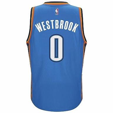 34e20c02e adidas Men s Oklahoma City Thunder NBA Russell Westbrook Swingman Jersey  Blue ...