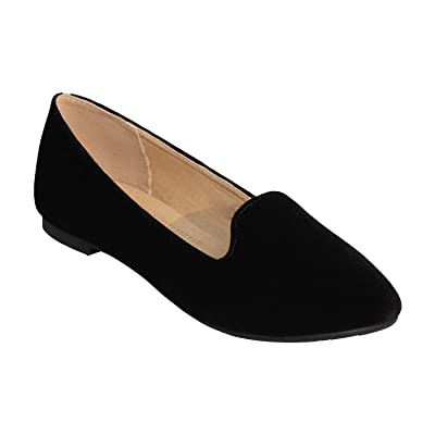 Z.Emma Women's Round Toe Slip On Dress Ballet Flats Comfortable Office Loafer Shoes DA81 | Flats