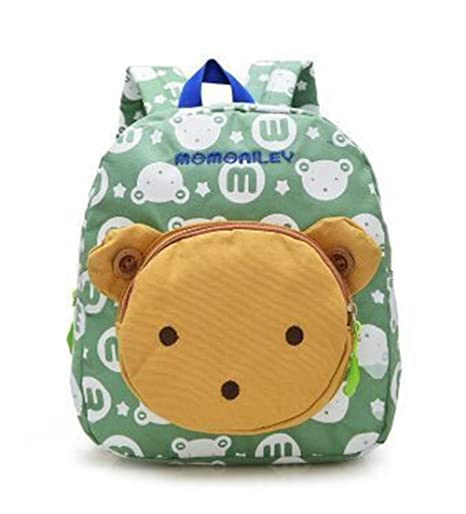 3178405b38 Flyingsky Bear Animals Kids Book Backpack Baby Girls School Bag (Grass  green)  Amazon.co.uk  Luggage