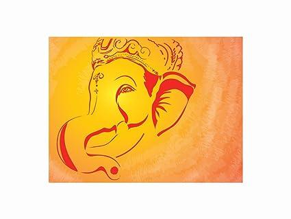 68c5ba61f39 ravgar Lord Ganesha Ganpati Bappa Siddhivinayak Vighanharta Canvas Painting  12x16 inch Unframed (30x42 cm rolled): Amazon.in: Home & Kitchen