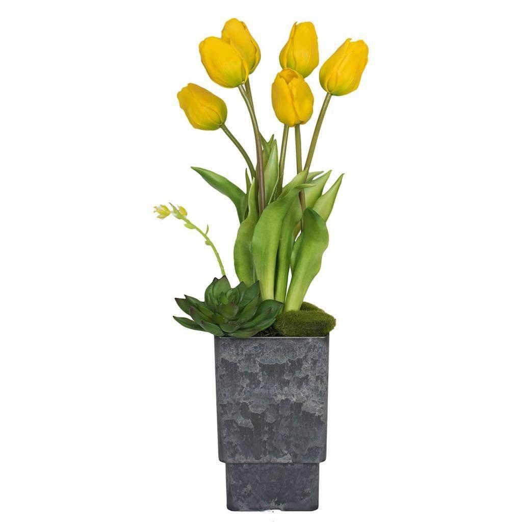 Vickerman F12247 Yellow Tulip Everyday Floral