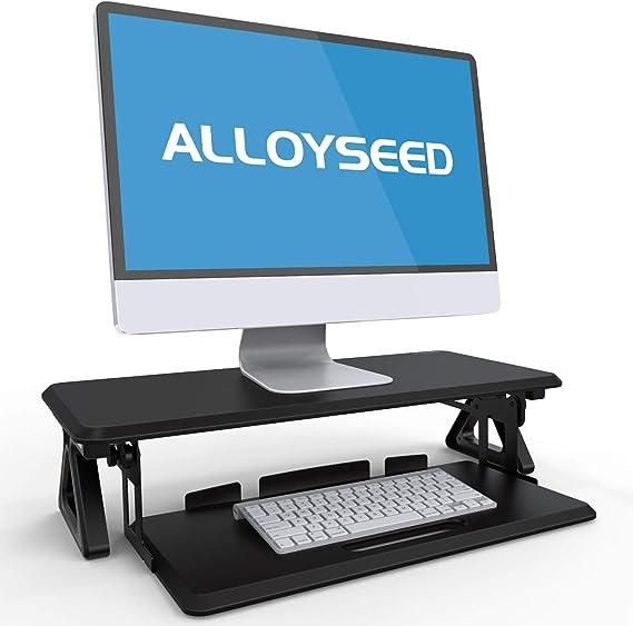 Aloyseed - Soporte para monitor con bandeja para teclado y teclado ...