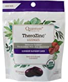 Quantum Health TheraZinc Elderberry Raspberry Lozenges, Immune Support in Tasty USDA Organic Drops for Cough Relief, Bagged, 18 Ct.
