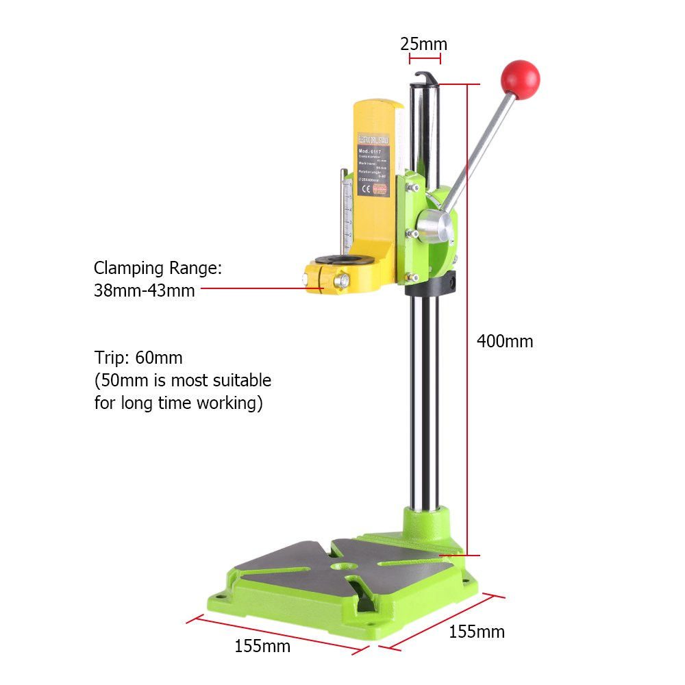 KKmoon High Precision Electric Power Drill Press Stand Table Rotary Tool Workstation Drill Workbench Repair Tools Clamp Work Station with 0-90 Degree Rotating Fixed Frame for Drilling Collet Table by KKmoon (Image #4)