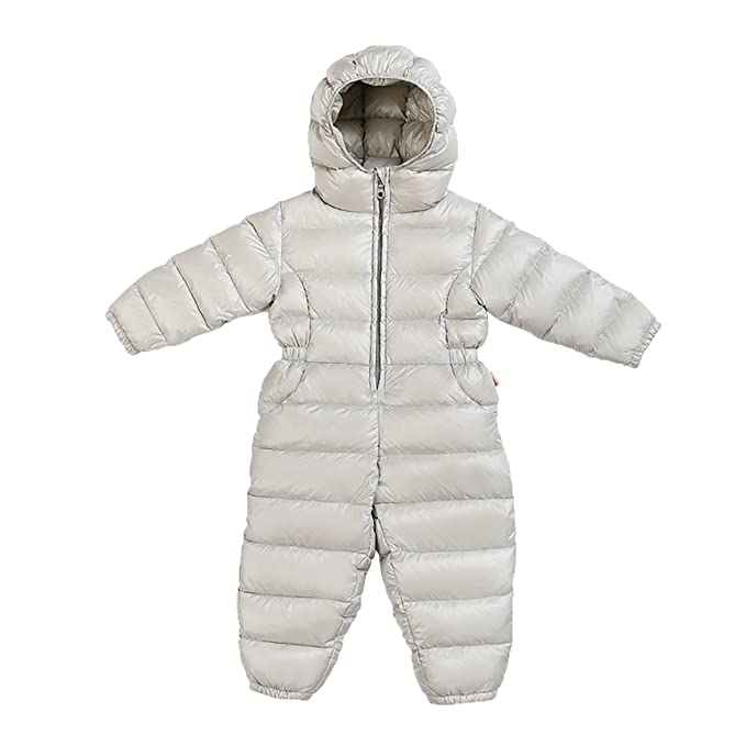 b186ff8787b3 Baby Snowsuit Winter Kids Puffer Jumpsuit Romper Baby Boys Snuggly ...