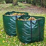 LIVIVO FiNeWaY SET OF 2 Heavy Duty 150L Garden Refuse Bag Waste Refuse Rubbish Grass Sack Showerproof Reusable Large sack safe moving with minimum mess