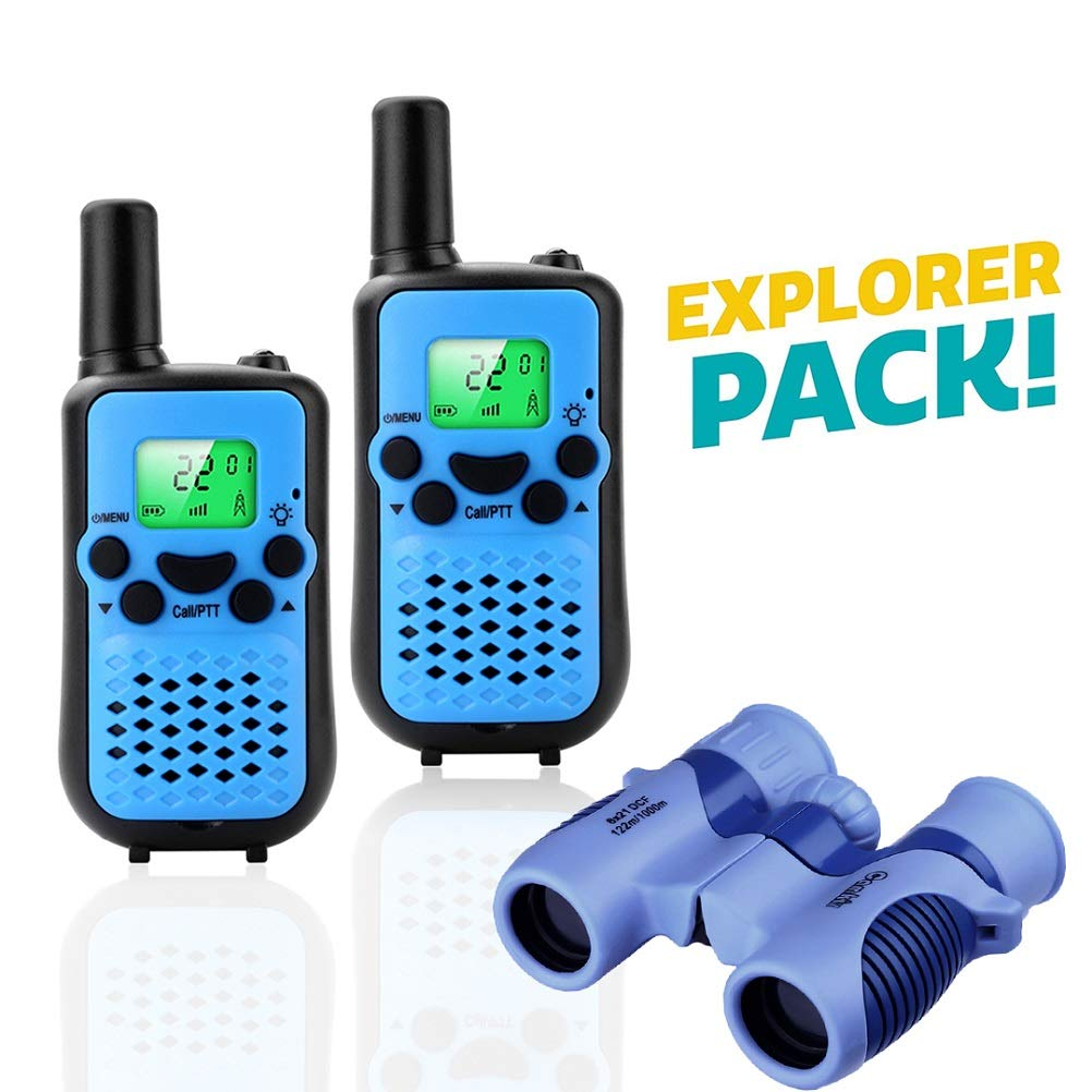 Real Walkie Talkies for Kids Birthday Gift for 3-10 Year Old Boy with 312 Group Channels Yellow VOX Hands-Free and Crystal Sound