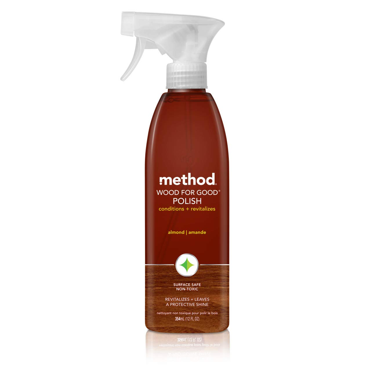 Method Wood for Good Polish, Wood Cleaner, Almond, 12 Ounce (Pack 6) by Method
