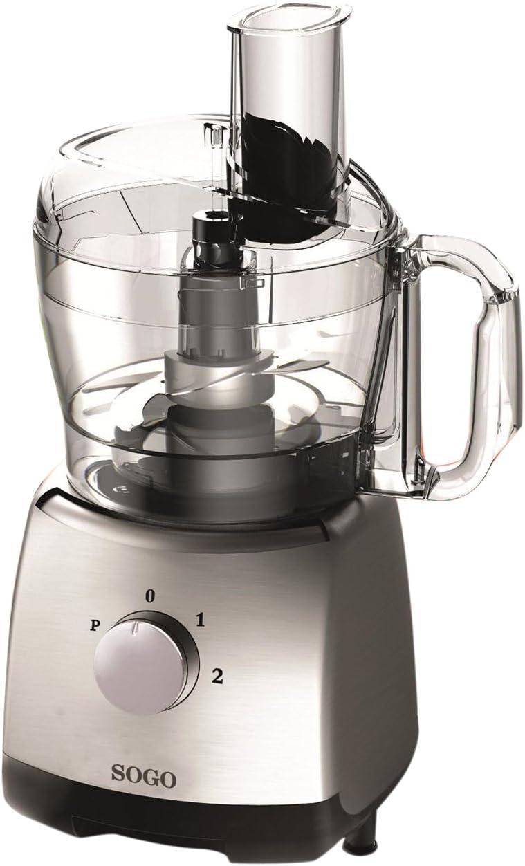 Sogo SS-5140 Mini robot de cocina, 400 W, 1.2 litros, Plástico, 2 ...