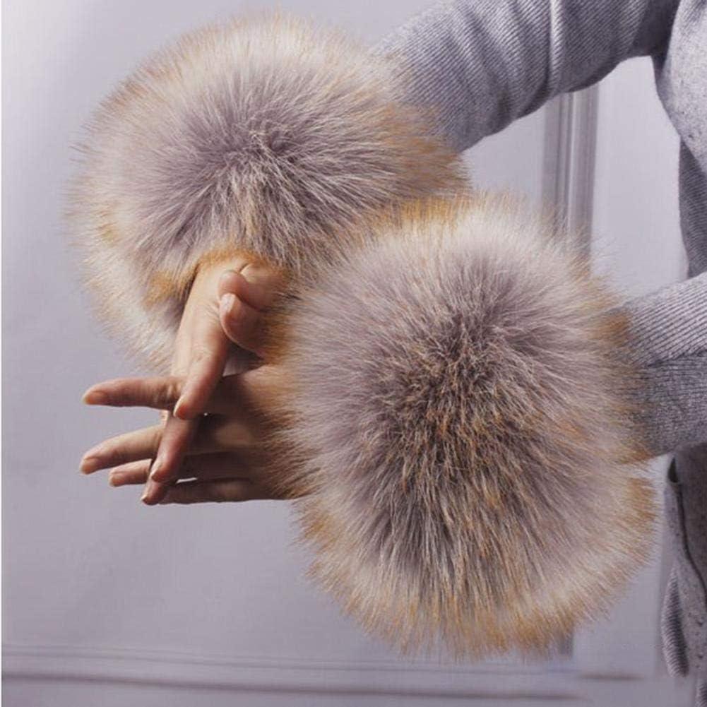 cedarfiny Kunstpelz Handgelenk Manschette weich und flauschig Handgelenk Band Ringe f/ür Herbst Winter Kleidung