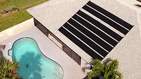 side facing Smartpool S601P solar pool heaters