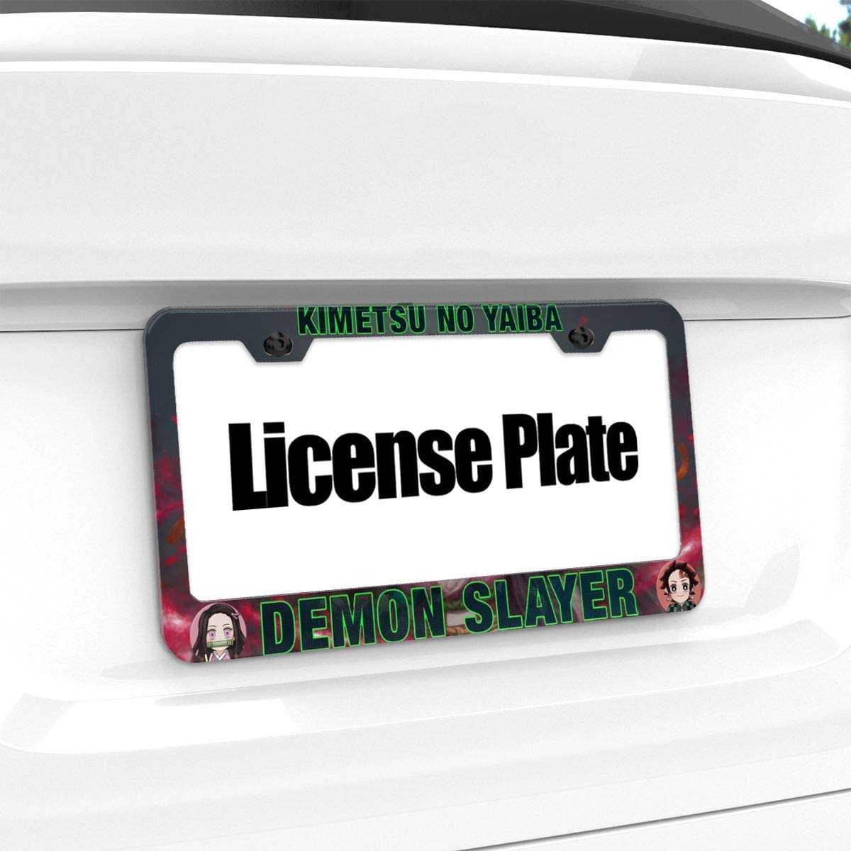 Demon Slayer Kimetsu No Yaiba 12 X 6 License Plate Frame Flat Hole