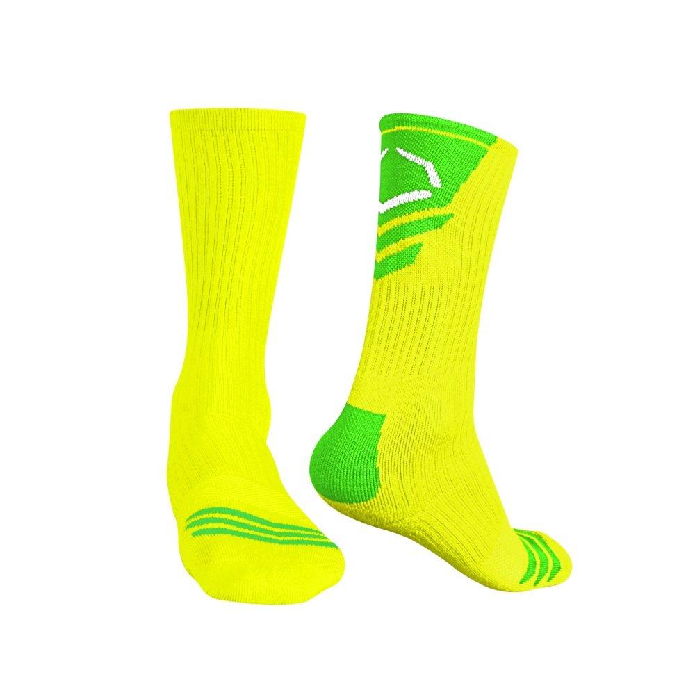 Evoshieldメンズパフォーマンスクルーソックス B00HMI71UA M Neon Yellow Body With Lime Neon Yellow Body With Lime M