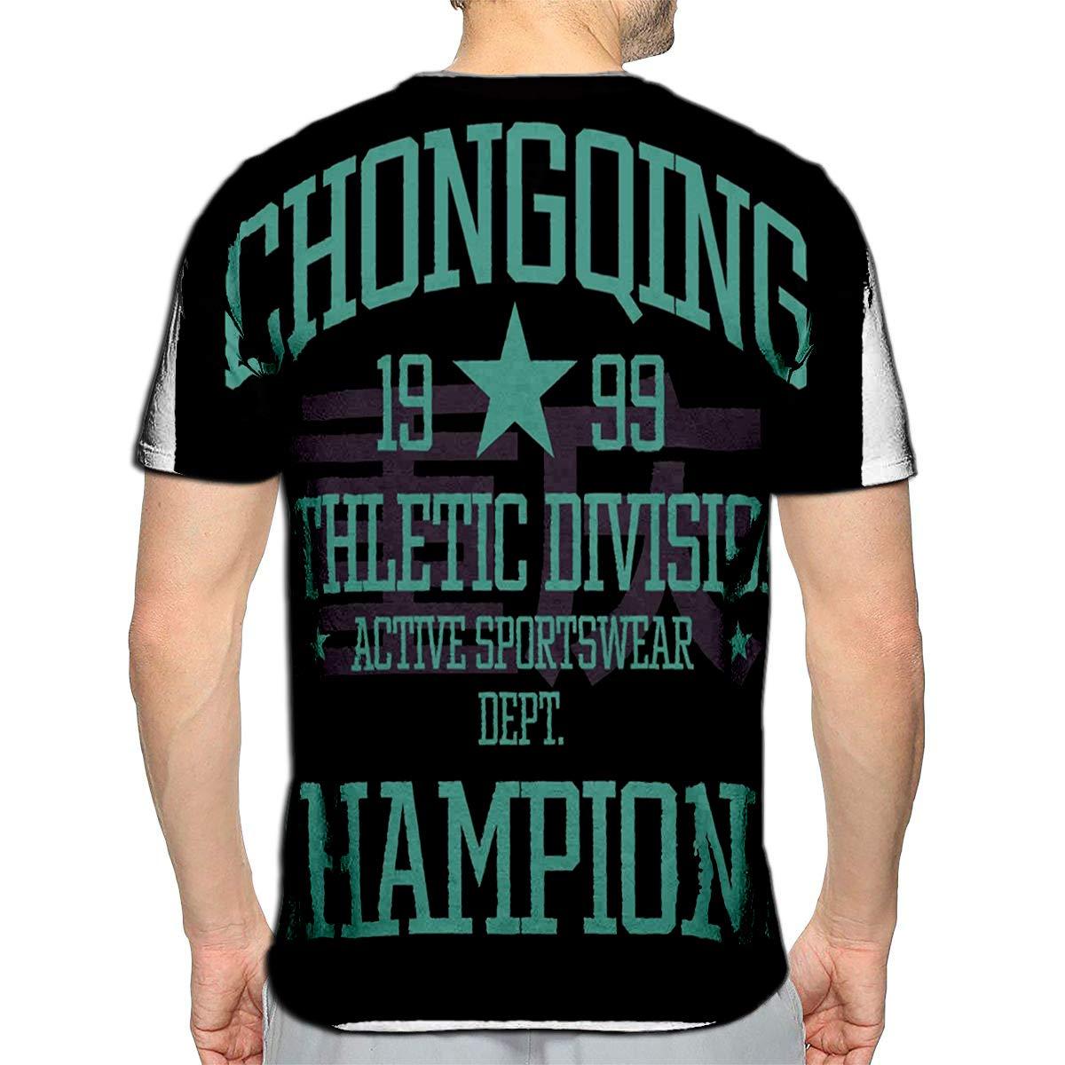 3D Printed T-Shirts Chongqing College Sport Team Style Chong Short Sleeve Tops T