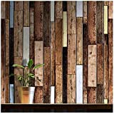 Wood Peel and Stick Wallpaper Decorative Vintage Self Adhesive Film in Size 24 in by 78.7 in for Living Room Kitchen Bedroom