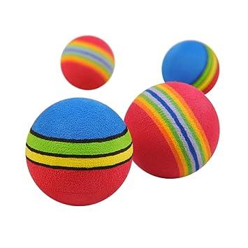 Challen - 10 bolas de espuma de arcoíris para entrenamiento ...