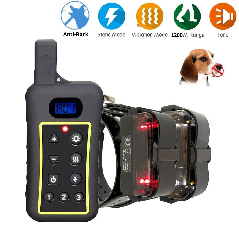MKLY Pet Resolve Dog Training Collar,Anti Bark Collar Waterproof 1300Yd Remote Controlled Dog Shock Collar For All Dogs Over 10Lbs,C by MKLY (Image #1)
